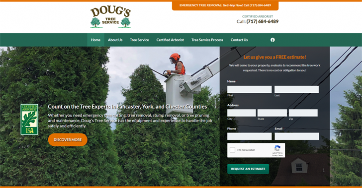 Ezmarketing Constructs New Website For Doug S Tree Service News 9